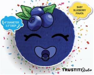 Baby blueberry pinata pull. Blueberries clipart emoji