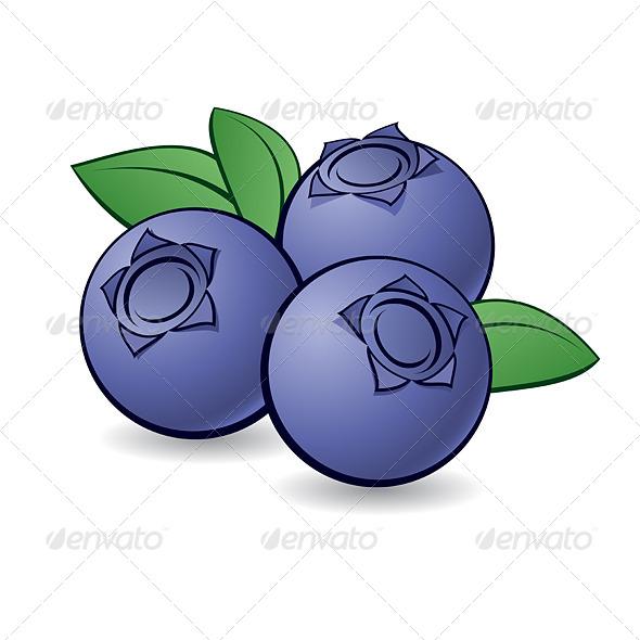 Cartoon blueberry by dvarg. Blueberries clipart emoji