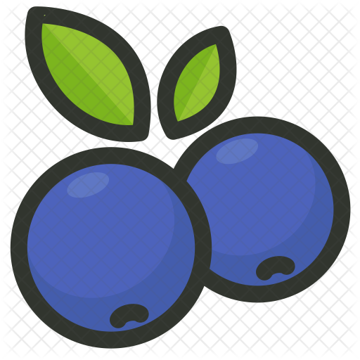 Blueberry icon agriculture farming. Blueberries clipart emoji