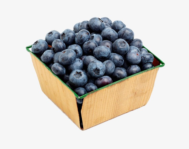 Blueberry clipart fresh. A box of blueberries