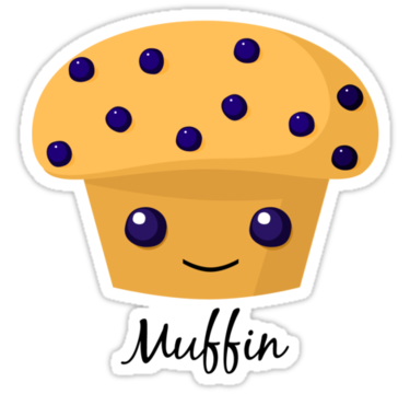 Cartoon blueberry muffins happy. Muffin clipart adorable