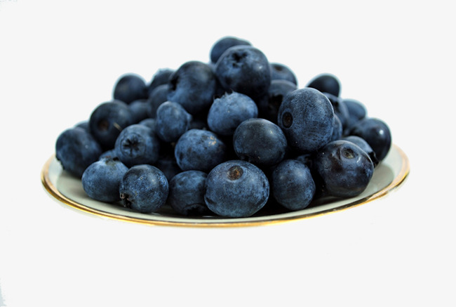 Blueberries on a plate. Blueberry clipart juniper berry