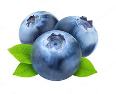 Blueberries clipart transparent background. Two with leaves isolated