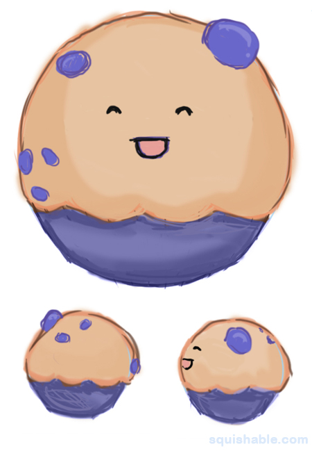 Blueberry clipart adorable. Squishable com muffin an