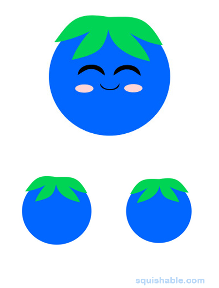 Blueberry clipart adorable. Squishable com an fuzzy