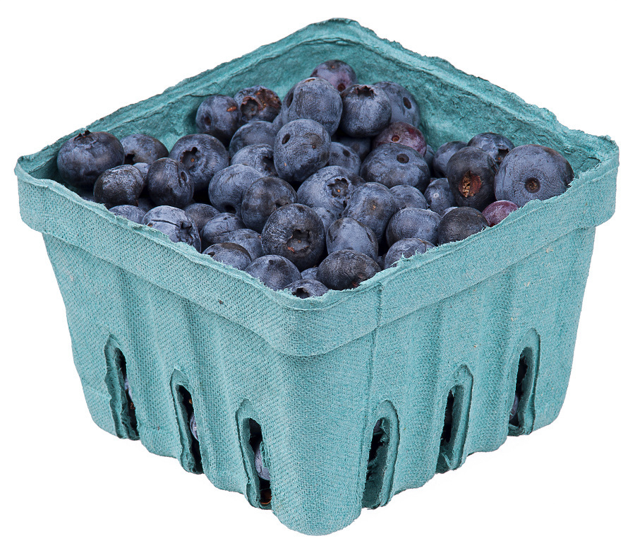 Blueberries in pack food. Blueberry clipart blue berry