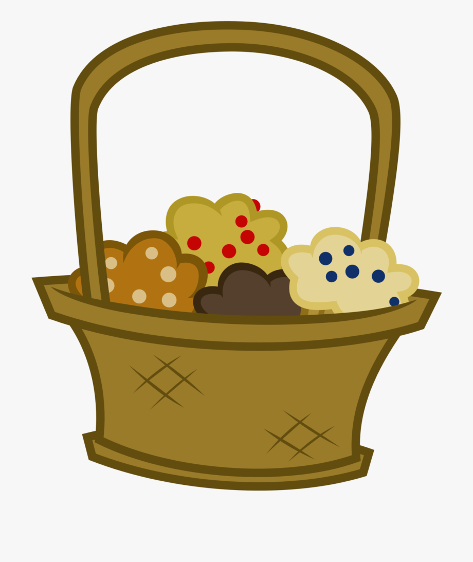 Blueberry mlp in a. Muffins clipart basket muffin