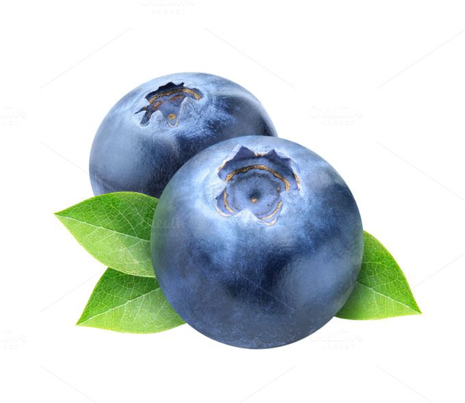 Blueberry clipart blueberry fruit. Two blueberries with leaves