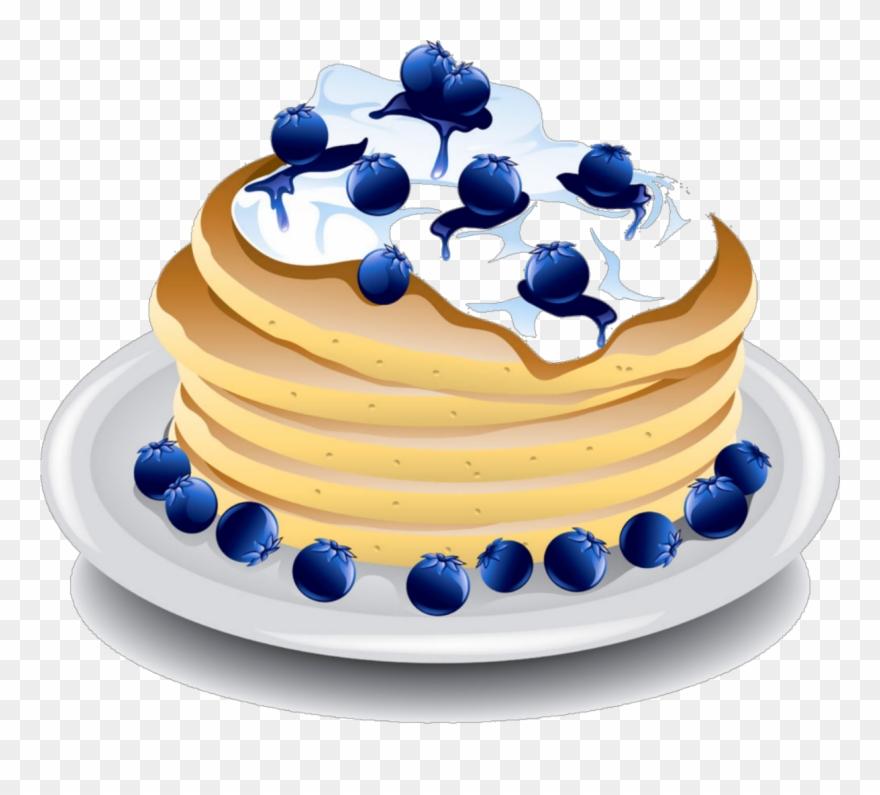 Blueberry clipart blueberry pancake. Transparent pancakes