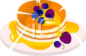 Stack of pancakes with. Blueberry clipart blueberry pancake