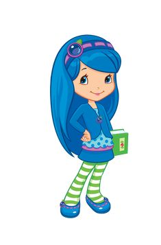 Strawberry shortcake pinterest clip. Blueberry clipart character