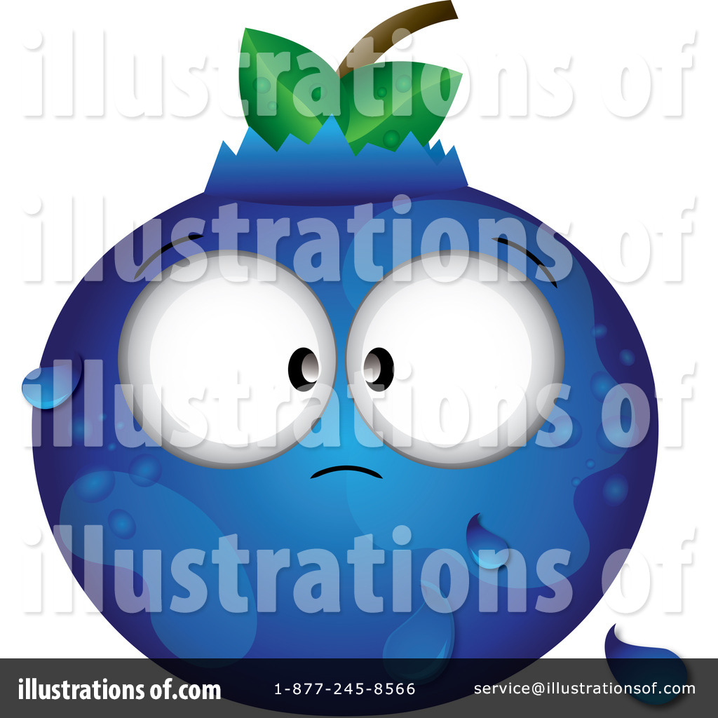 Blueberry clipart character. By pams royalty free