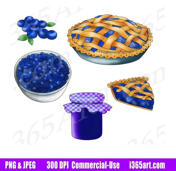 off pie. Blueberry clipart clip art