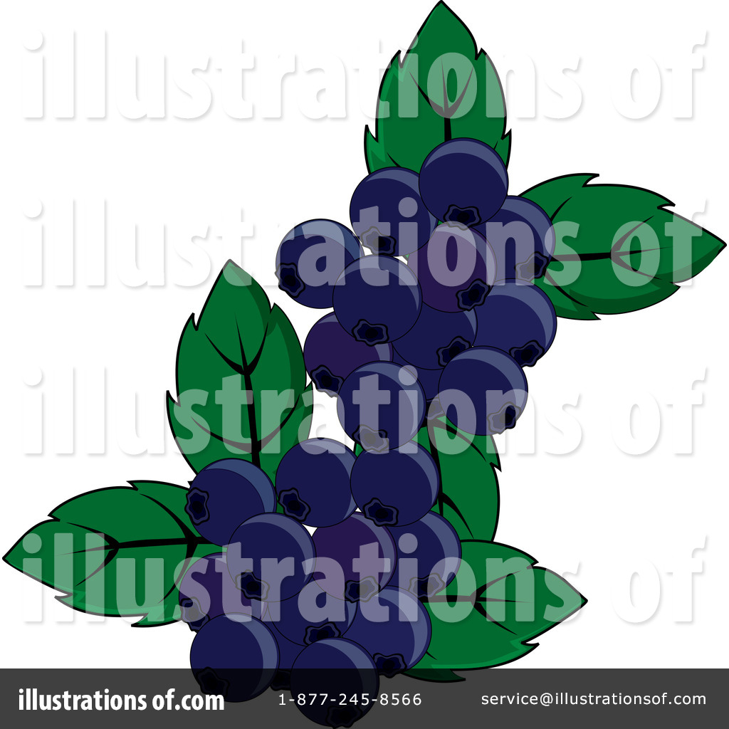 Illustration by pams royaltyfree. Blueberries clipart cartoon