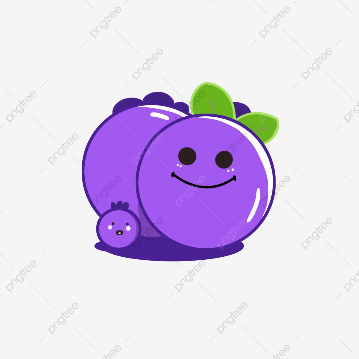 Warm happy cartoon mood. Blueberry clipart color