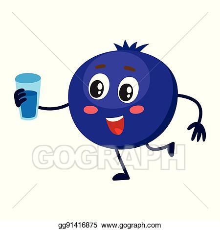 Blueberry clipart cute. Vector and funny comic