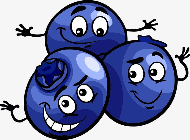 Blueberry clipart cute. Cartoon lovely png image