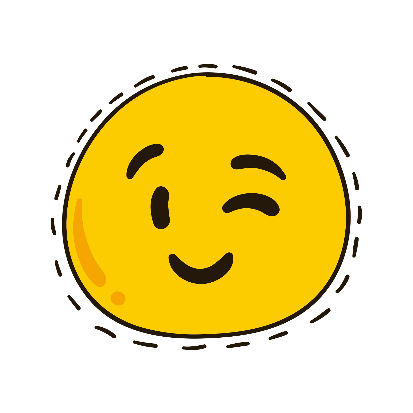 Emoticon feeling emoji clip. Square clipart smiley