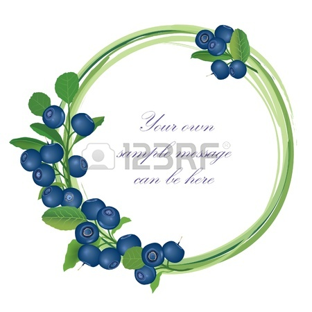 Blueberry clipart frame. Billberry bush panda free