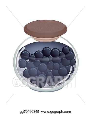 Drawing a jar of. Blueberry clipart fresh