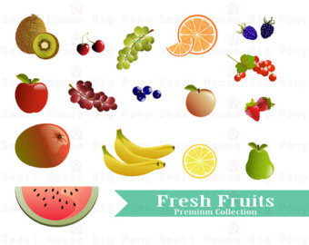 Blueberry clipart fresh. Fruits watercolor fruit clip