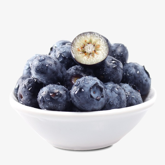 Blueberry clipart fresh. Bowl of blueberries blue