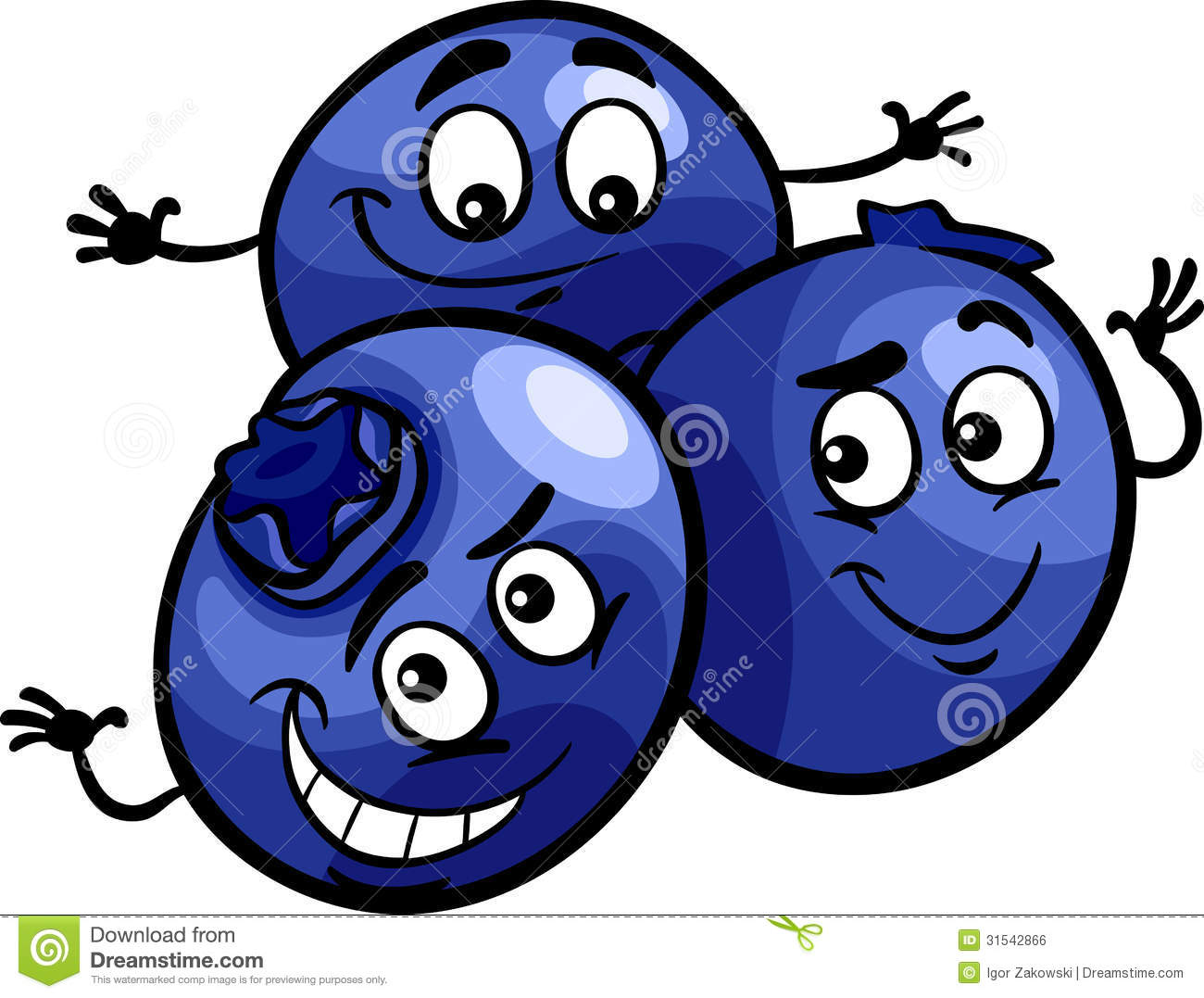 Animated pencil and in. Blueberry clipart happy