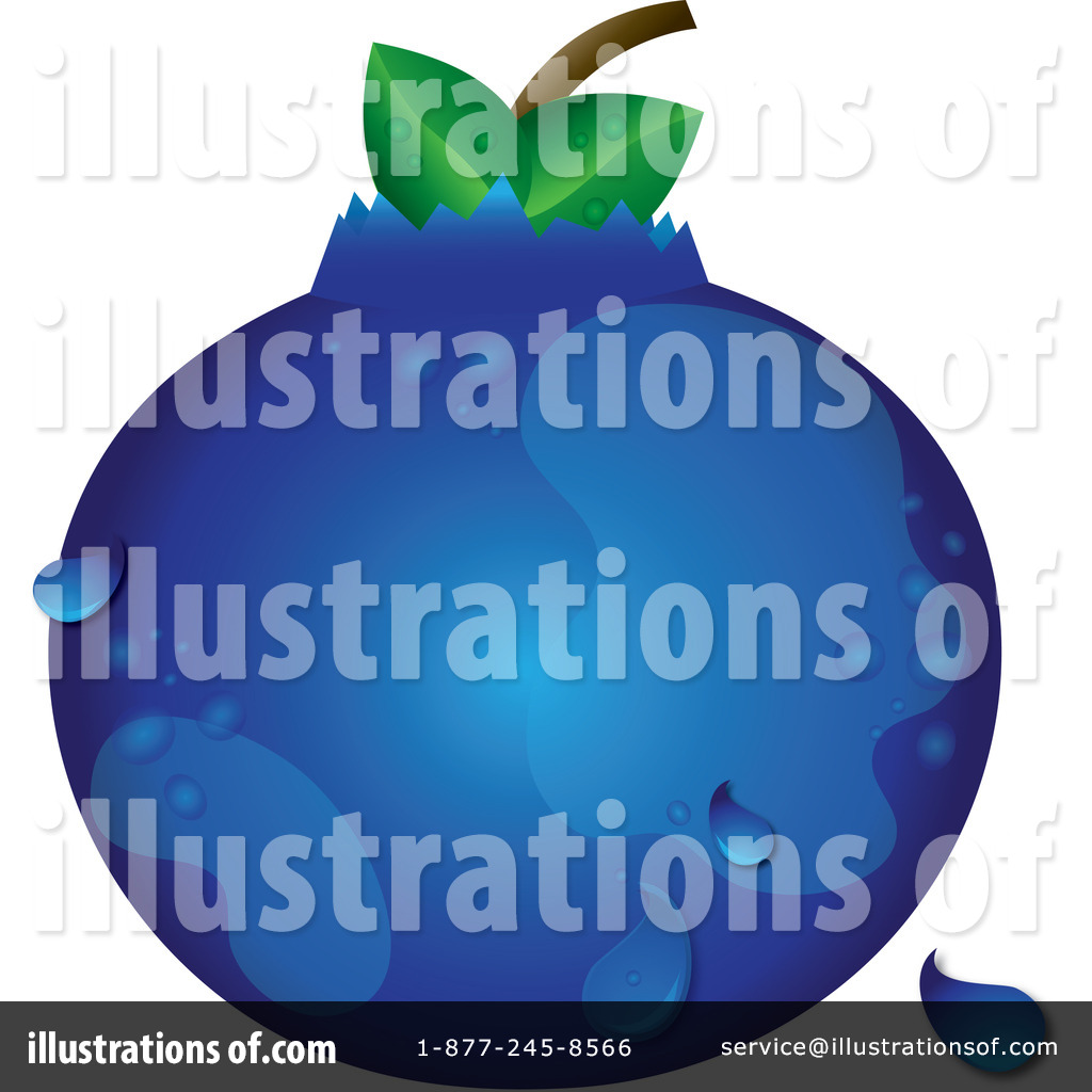 Illustration by pams royaltyfree. Blueberry clipart one blueberry