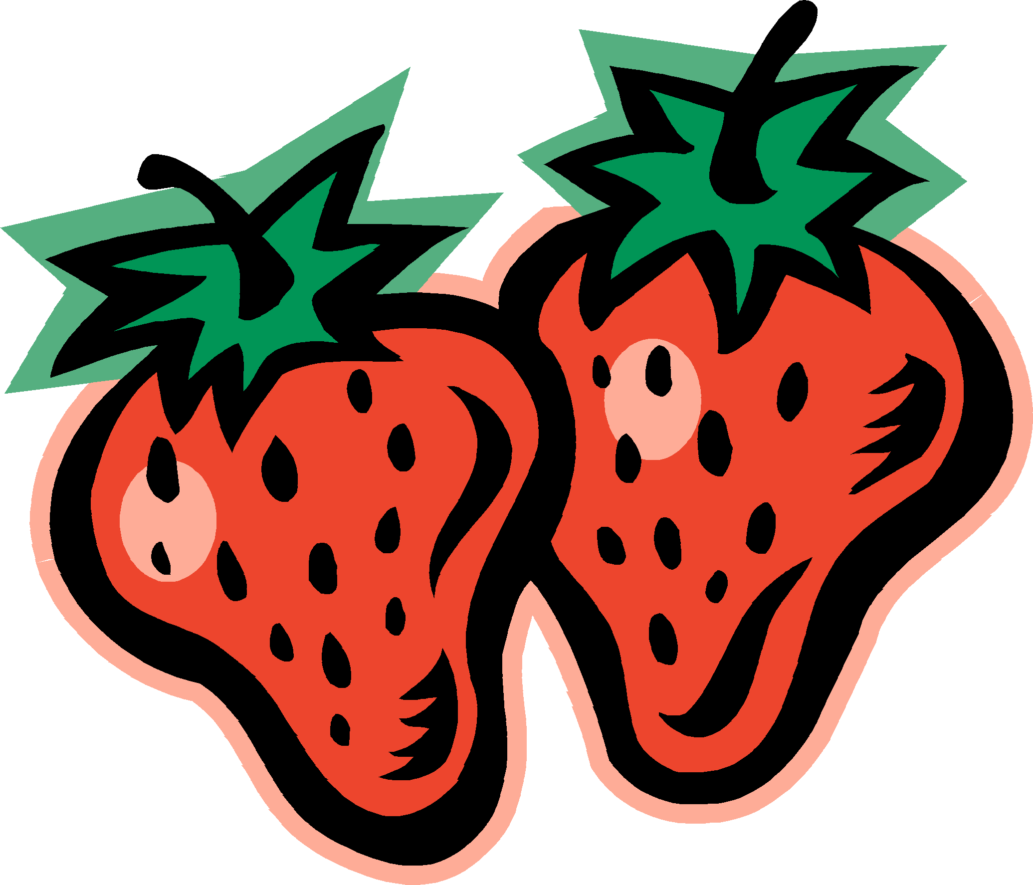 Strawberry black and white. Blueberry clipart pile