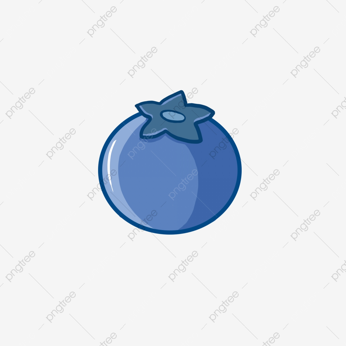 Icon element png fruit. Blueberry clipart single