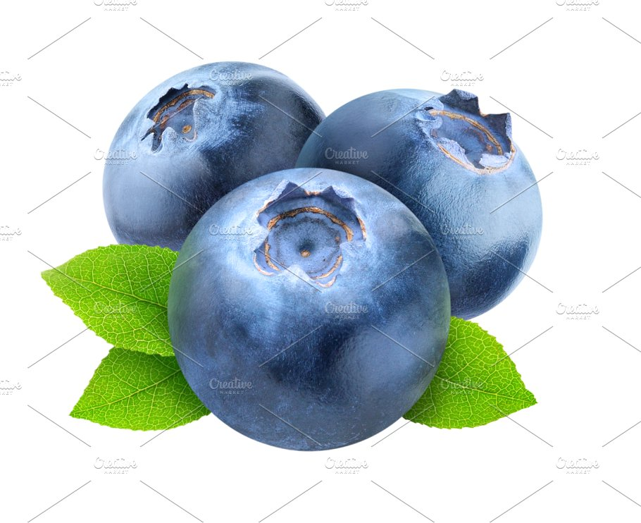 Blueberries cut out food. Blueberry clipart three