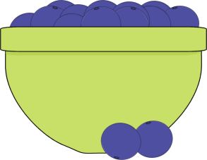 Clip art images bowl. Blueberry clipart two