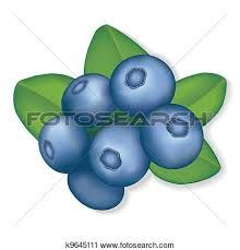 Blueberry clipart two. Free clip art tin