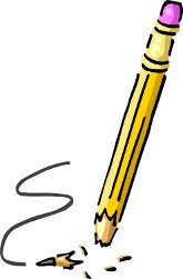 Pun. Blunt clipart broken pencil tip
