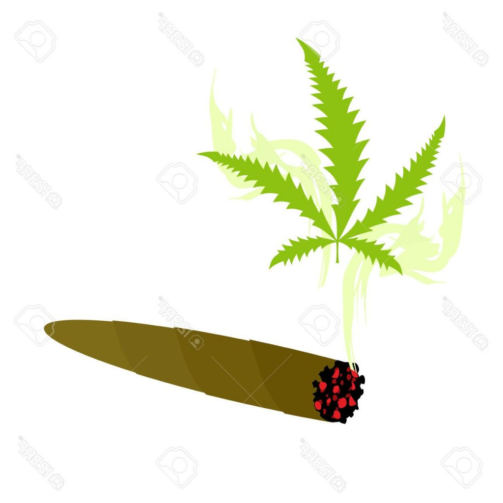 Weed smoke a woman. Blunt clipart cartoon