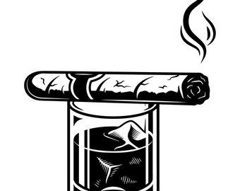 Smoking etsy logo tobacco. Blunt clipart cigar cuban