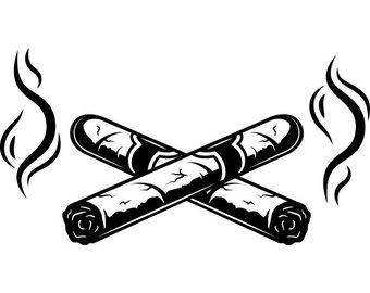 Blunt clipart cigar cuban. Smoking etsy cigars crossed
