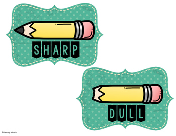 Sharp and labels teaching. Blunt clipart dull pencil