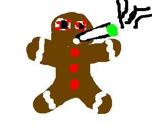 Blunt clipart fat. Christmas cookie smoking a
