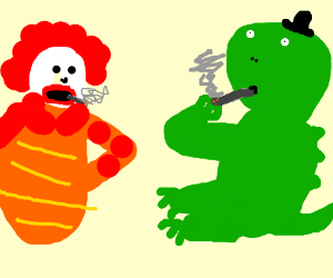 Blunt clipart fat. Godzilla smoking a with