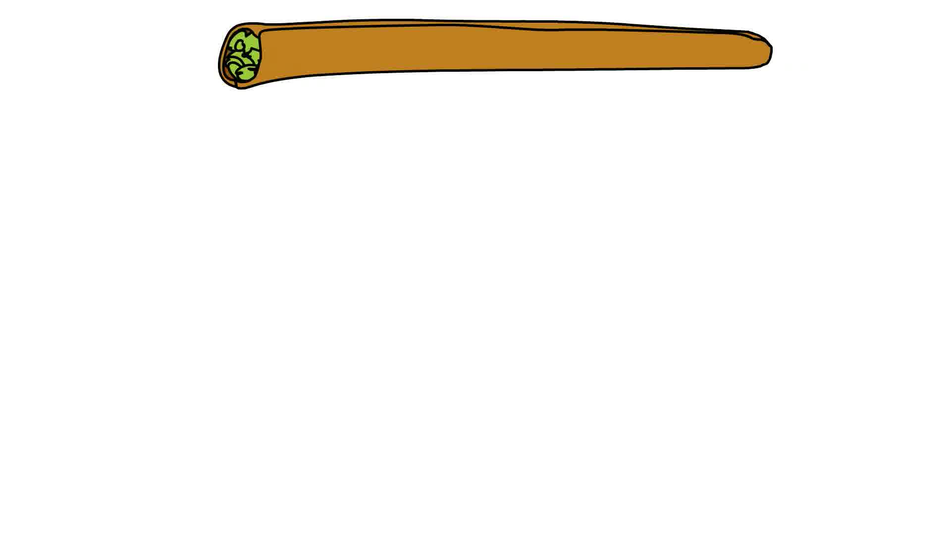 Rolled joint png transparent. Blunt clipart kush