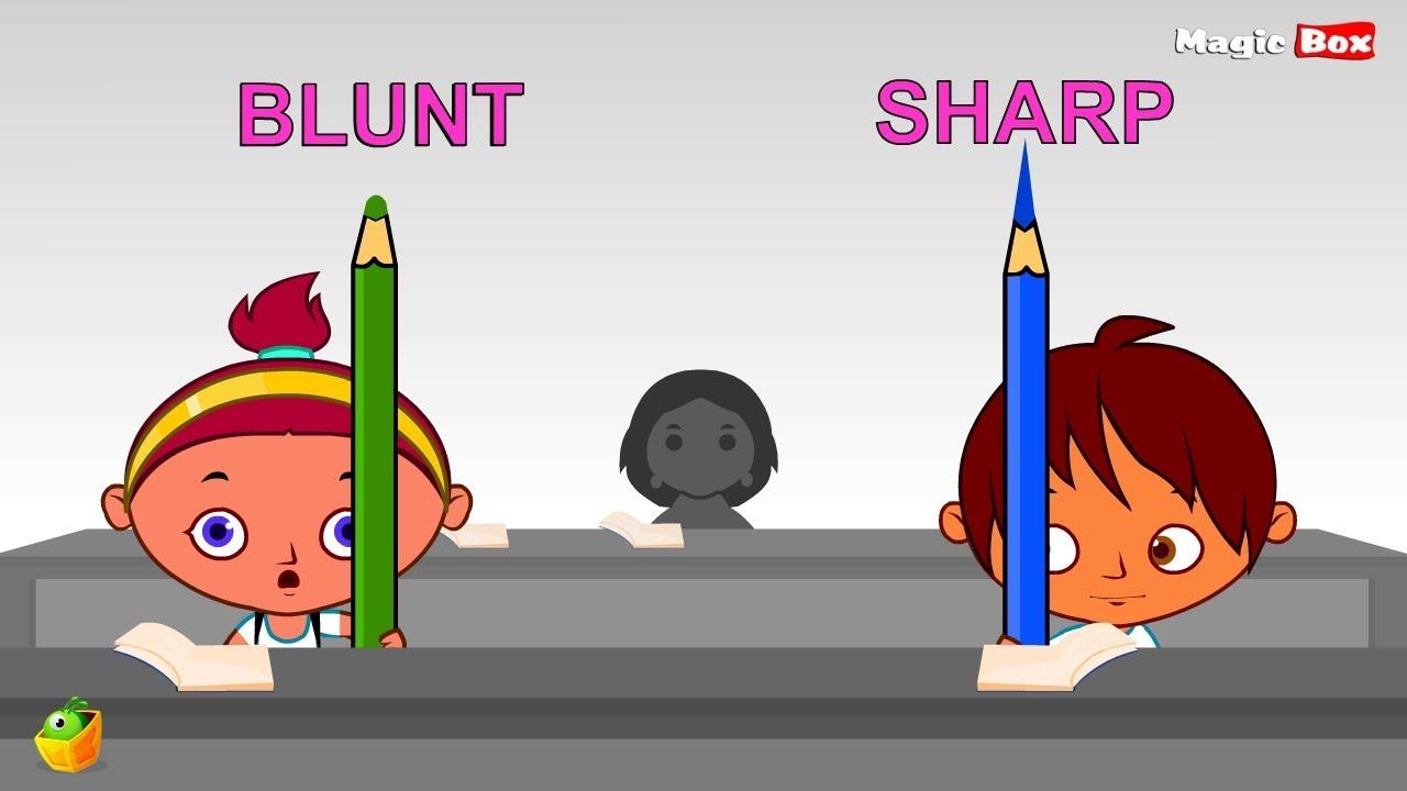 Blunt clipart sharp. Learn opposites part opposite