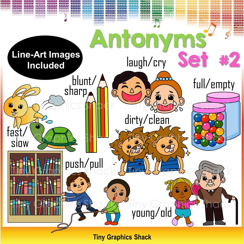 Blunt clipart sharp. Antonyms set teaching ideas