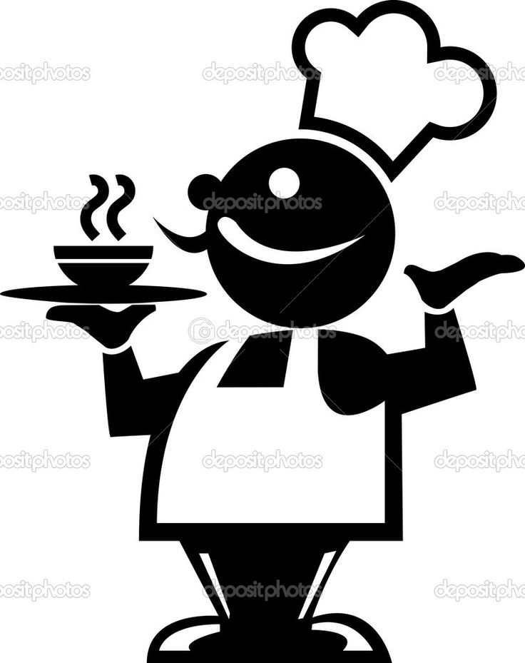 best chef silhouettes. Catering clipart silhouette