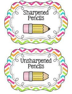Cup labels freebie a. Blunt clipart unsharpened pencil