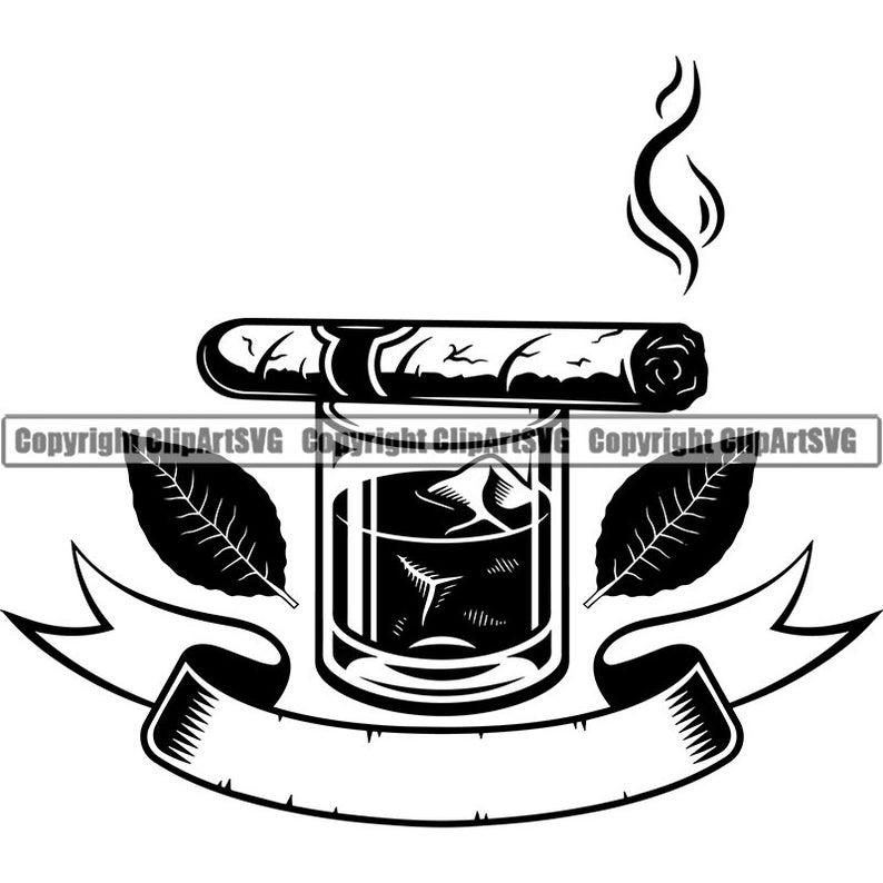 Blunt clipart vintage cigar. Logo smoking tobacco smoke