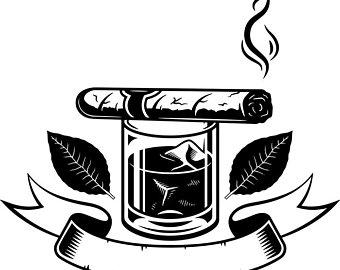 Tobacco art logo etsy. Blunt clipart vintage cigar