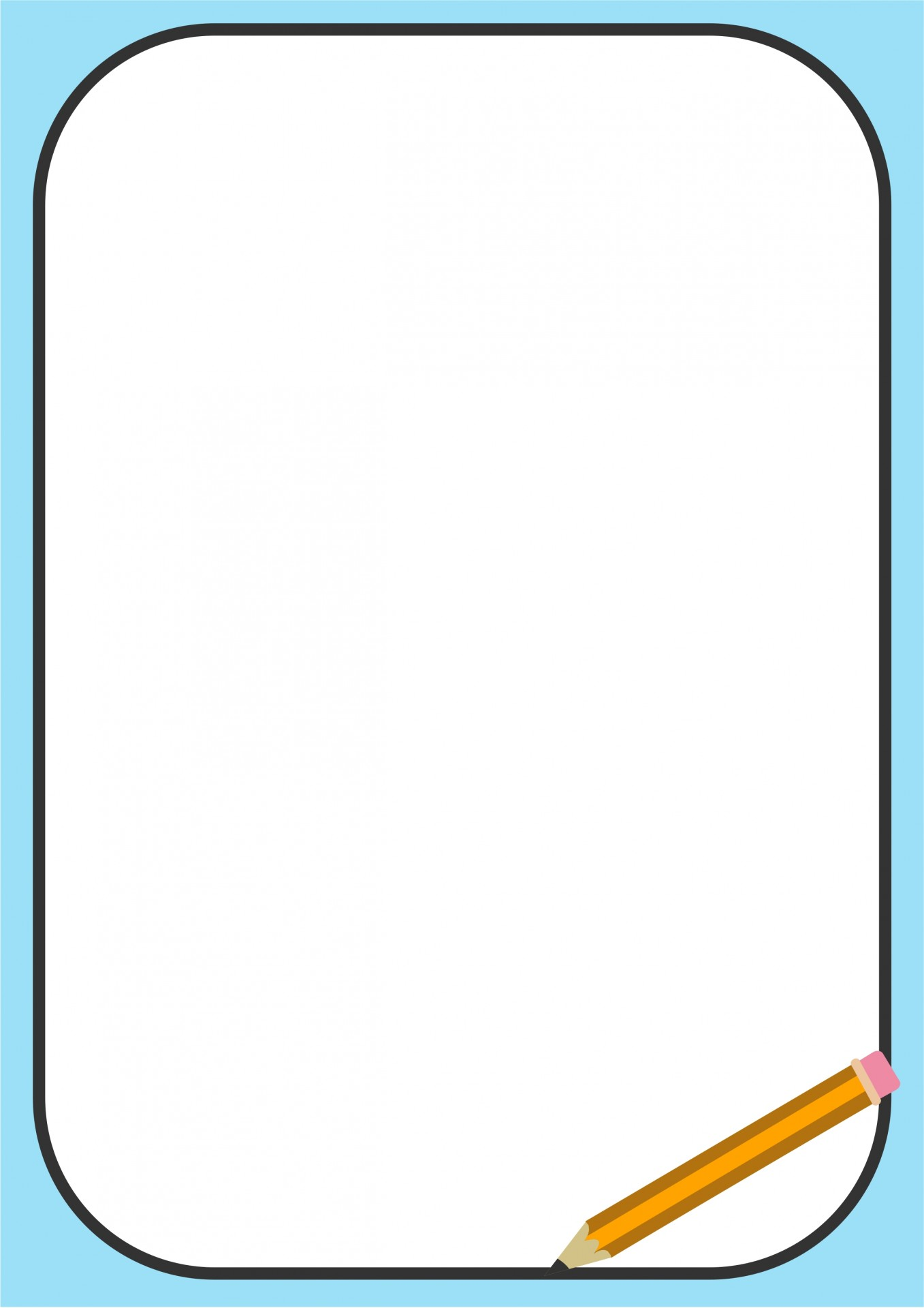 Pencil border free stock. Boarder clipart