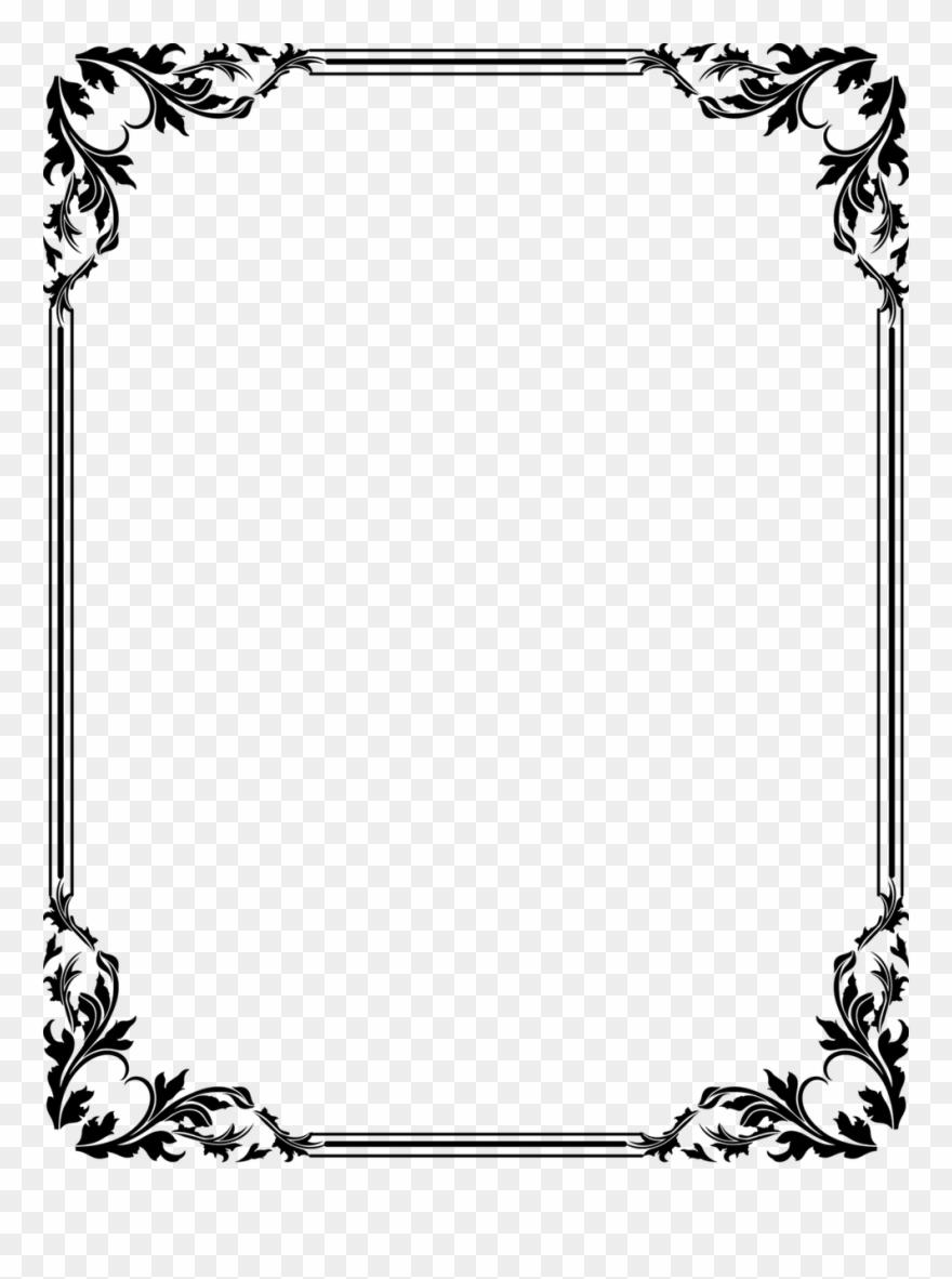 Boarder clipart black and white. Page borders designs cliparts