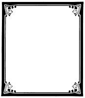 Frame clip art panda. Boarder clipart black and white